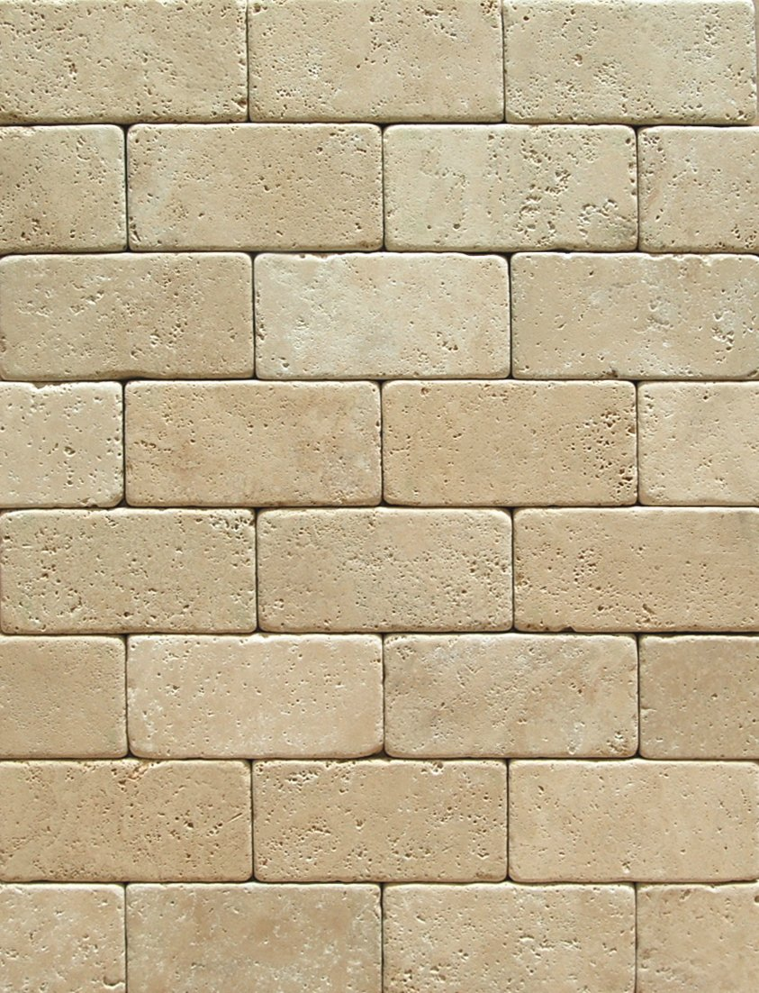 ivory light travertine 3 x 6 subway field tile tumbled marble tiles amazoncom