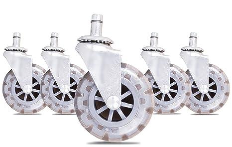 workablez silla de oficina ruedas – juego de 5 ruedas de repuesto Poliuretano ruedas para sillas