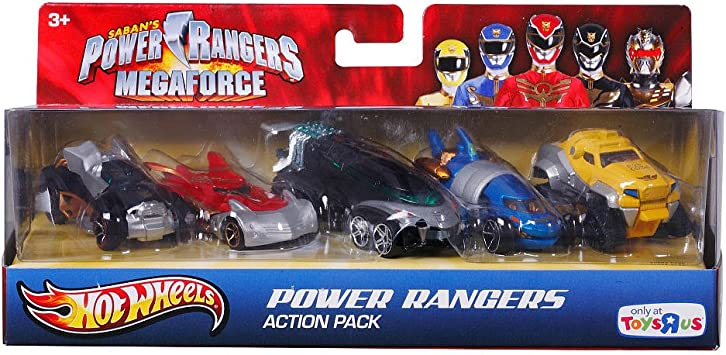 Mattel Hot Wheels - Pack 5 Vehículos Power Rangers: Amazon.es ...
