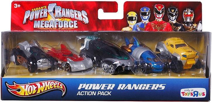 Mattel Hot Wheels - Pack 5 Vehículos Power Rangers: Amazon.es ...