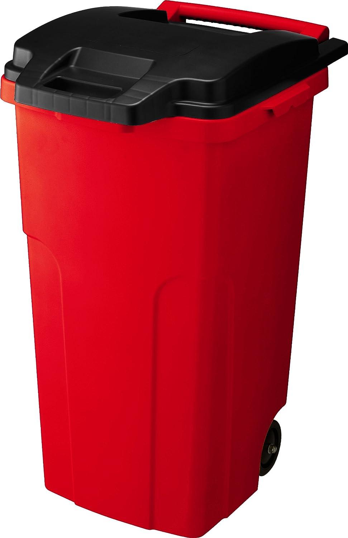 リス キャスター付きゴミ箱 キャスターペール 90C2 90L 2輪 レッド B005J0WS1U 90L|レッド レッド 90L