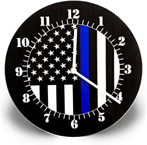 Clock - Thin Blue Line American Flag