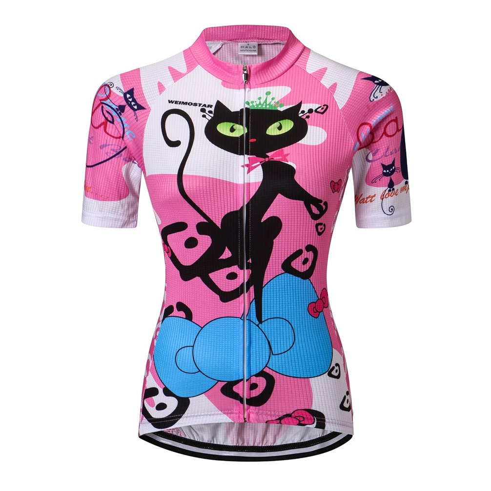 Weimostar Womens Cycling Jersey Bike Jersey For Women Summer Breathable Short Sleeve Clothing Jacket Tops Shirt
