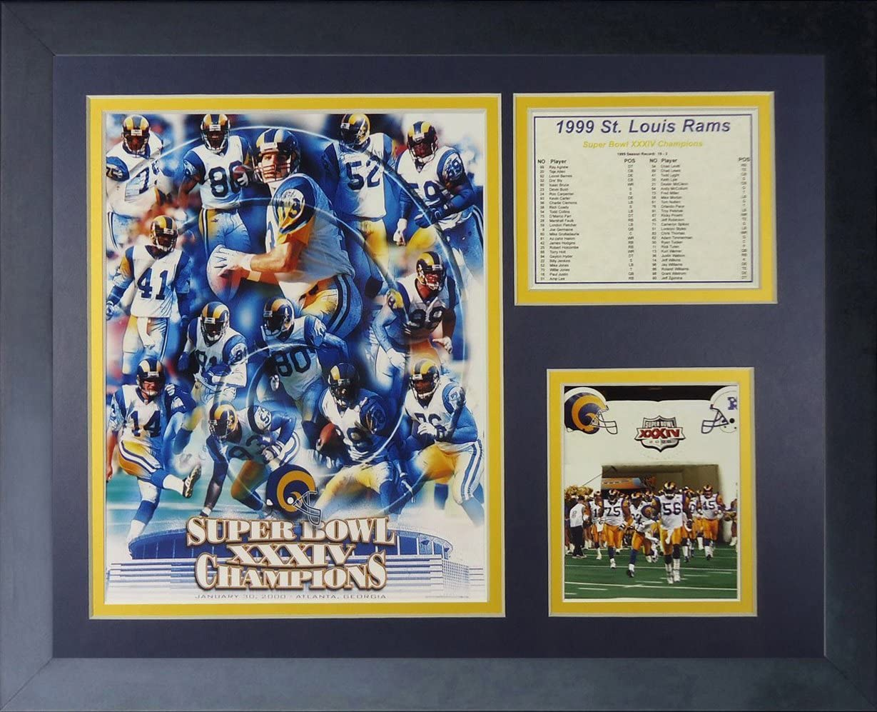 Louis Rams Champions Framed Photo Collage Legends Never Die 1999 St 11 x 14-Inch