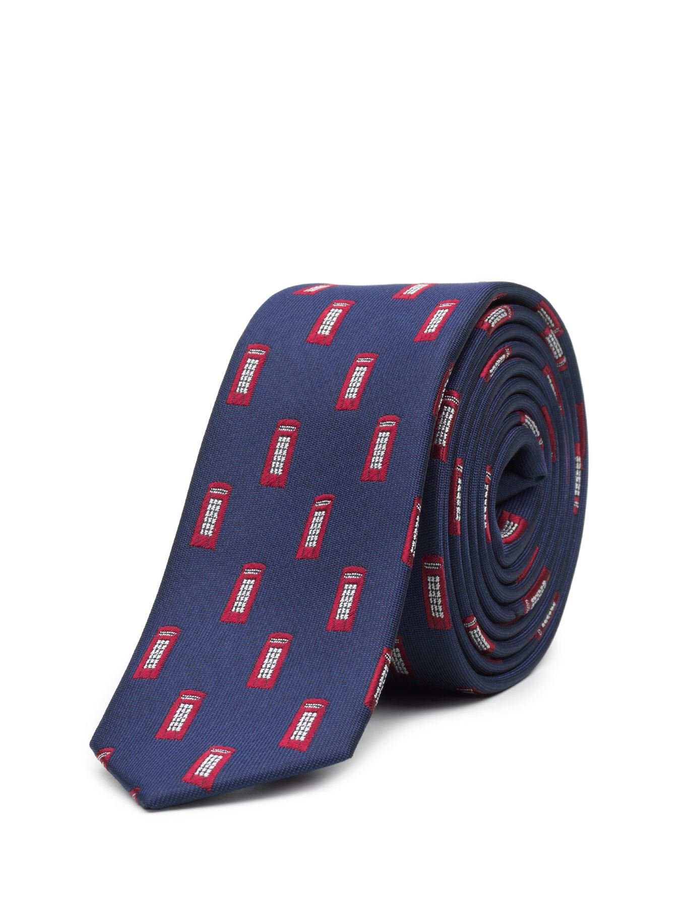 Paisley of London, Boys Royal Blue Telephone Box Slim Tie, One Size