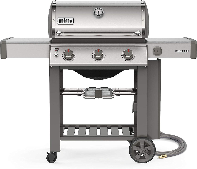 Weber 66001001 Genesis II S-310 Natural Gas 3-Burner Grill, Stainless Steel