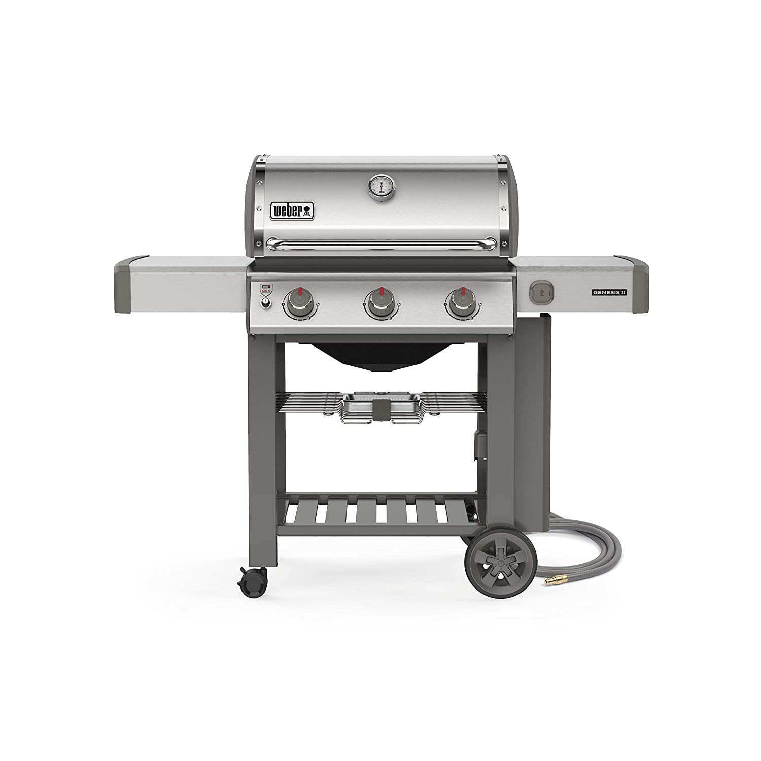 Weber 61001001 Genesis II S-310 3-Burner Natural Gas Grill, Stainless Steel