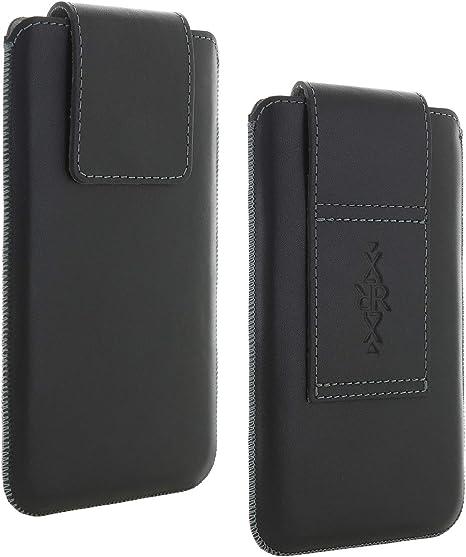 Made in Germany YOMIX Hugo Grau Handytasche Tasche f/ür Samsung Galaxy S20 Plus aus Alcantara/® mit Microfaserinnenfutter H/ülle mit Reinigungsfunktion