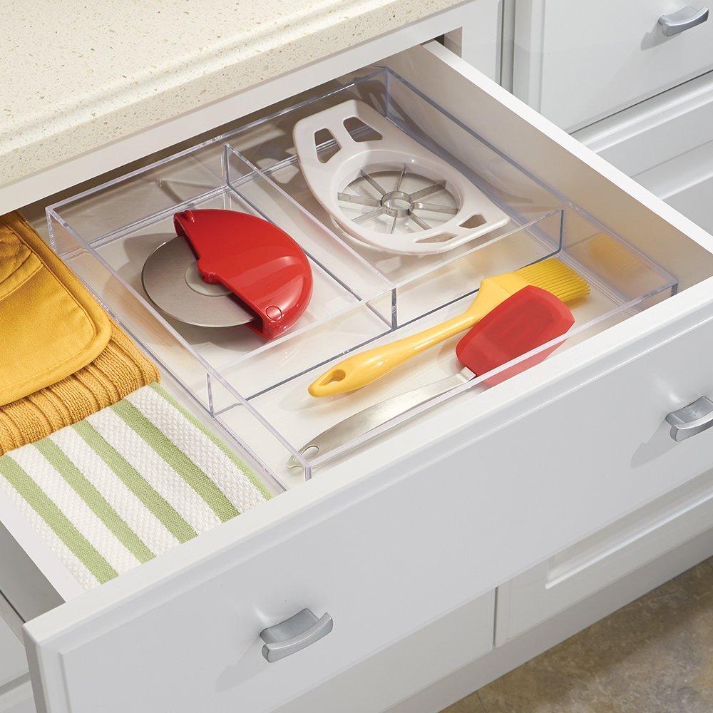 kunststoff 20,5 x 40,5 x 5 cm iDesign 49630EU Clarity Schubladen-Organizer-extragro/ß durchsichtig