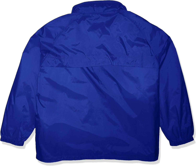 RETOV Mens Hooded Zip-Front Pack-Away Jacket Royal 4X-Large