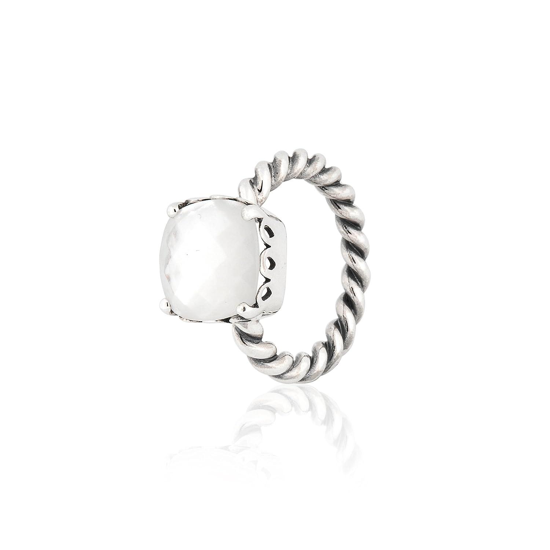 d8061a452 Amazon.com: PANDORA Elegant Sincerity Twist Mother of Pearl Ring Size 6 -  190828MP-52: Jewelry