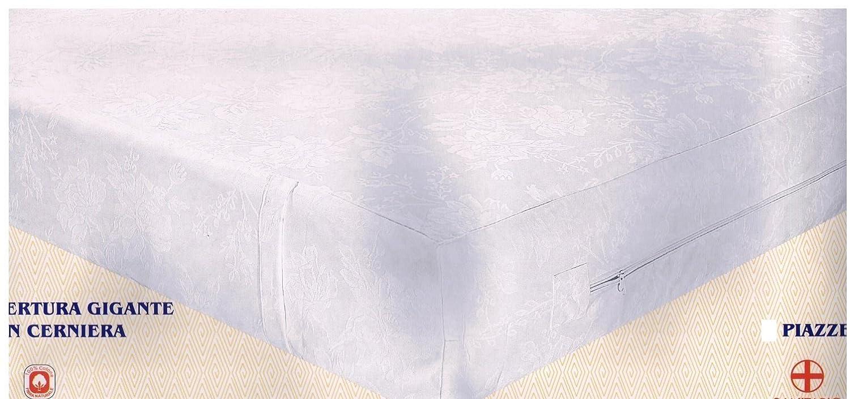 Coprimaterasso 1 piazza a sacco con cerniera fodera materasso Colortex