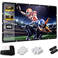 Projector Screen, Keenstone 120 Inch Projection Screen 4K 16:9 HD Foldable Wrinkle-Free Portable Movies Screen for Home…