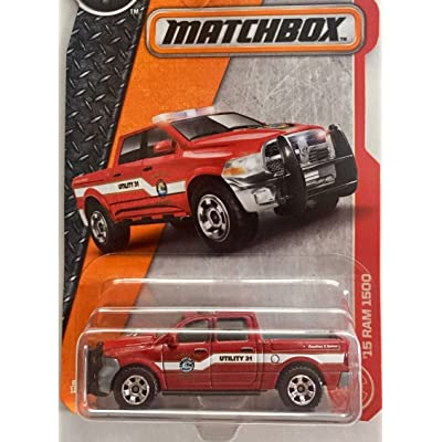 Matchbox 2020 MBX Heroic Rescue '15 Dodge Ram 1500 62/125, Red: Toys & Games