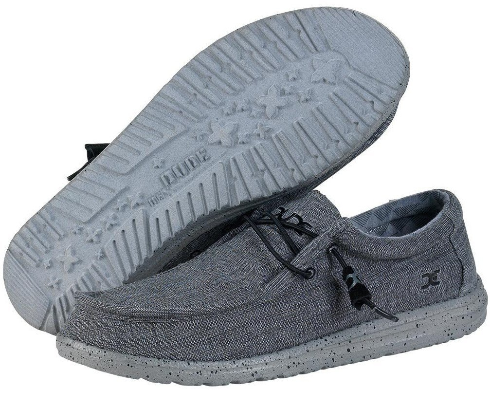 Hey Dude Men's Wally L Stretch Loafers 12 M US|Grey