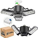 2-Pack 60W LED Garage Light, Super Bright 6000LM Garage Lights with Motion Switch, 5000K Easy-Installation LED Ceiling Lights
