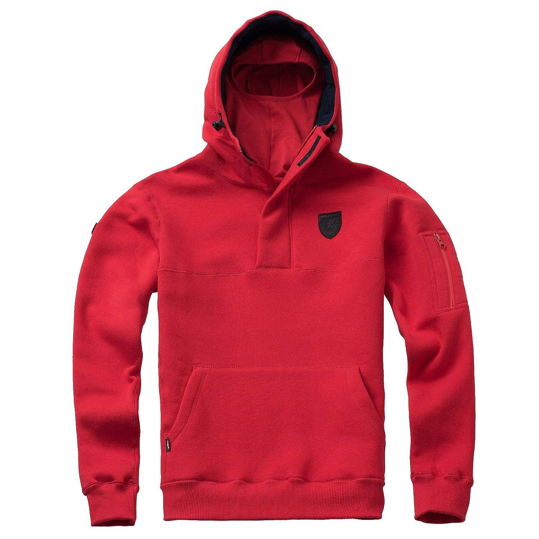 PG Wear Herren Full Face Hoodie Frontline 18 mit Sturmhaube schwarz rot Navy S-XXXL