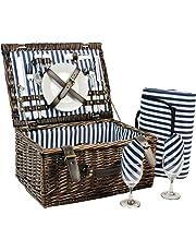Inno Stage Cestino da picnic in vimini per 4persone, in salice, cestino di servizio, set regalo per campeggio e feste all'aperto