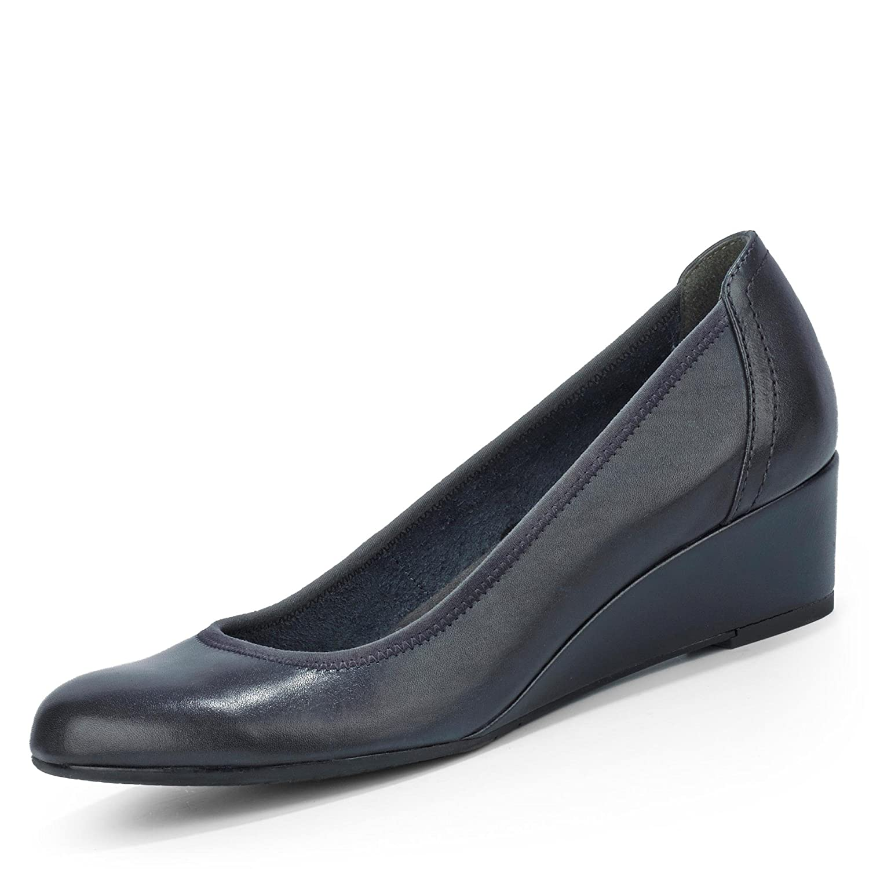 Tamaris - Zapatos de Vestir de Cuero para Mujer Azul Azul 38 EU|Azul