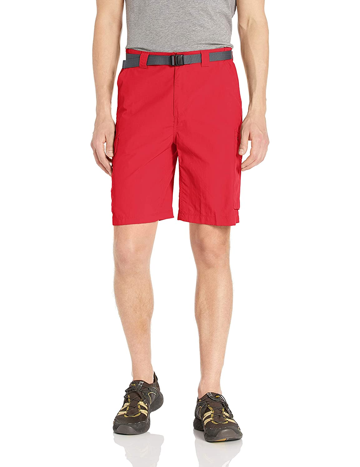 Sunset Red 36 x 10  Inseam Columbia Silver Ridge Cargo Short