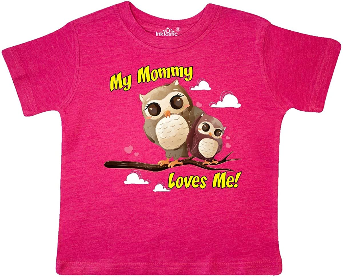 inktastic My Mommy Loves Me Owl Toddler T-Shirt