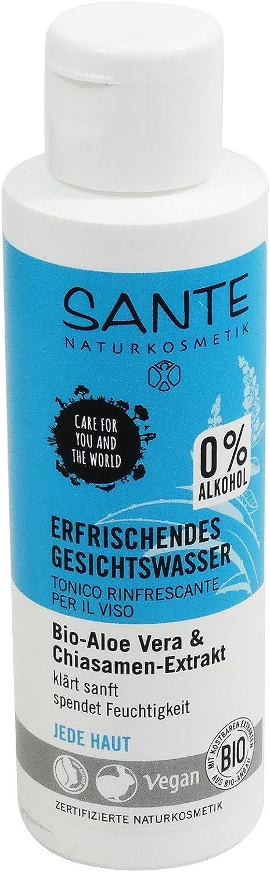 SANTE - Tónico facial refrescante sin alcohol con semillas de aloe vera y chia
