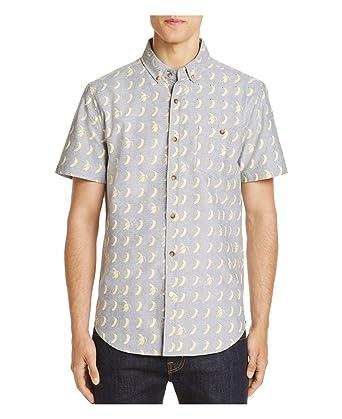 5ca9ae593 Sovereign Code Banana Print Mens Short Sleeve Oxford Shirt (Small ...