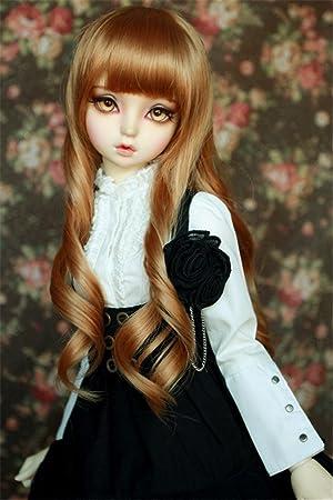 1 3 8-9 Bjd Wig Dal Pullip Blythe BJD SD DZ DOD LUTS Dollfie Doll Gilr Head Hair