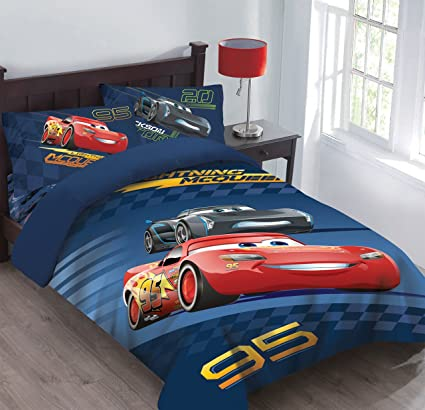 Superb Disney Cars Velocity Twin Bedding Comforter Set