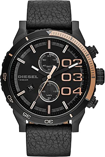 fdb1cb4e5182 Reloj Diesel crono48mm piel y caja negra  Amazon.es  Relojes
