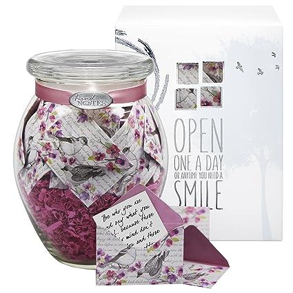 amazon com kindnotes glass mom keepsake gift jar of messages for