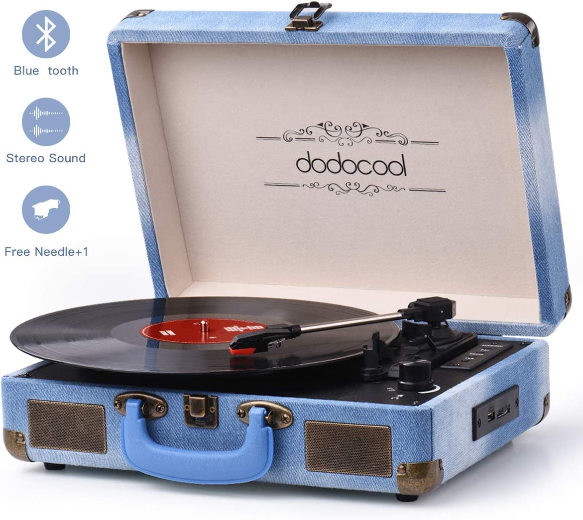 Vinyl Record Player, Dodocool Vintage Turntable 3