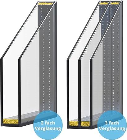 60mm Profil Panorama24 Kellerfenster LAGERWARE 3-fach-Verglasung Fenster wei/ß BxH: 120x50 cm Kunststoff DIN rechts