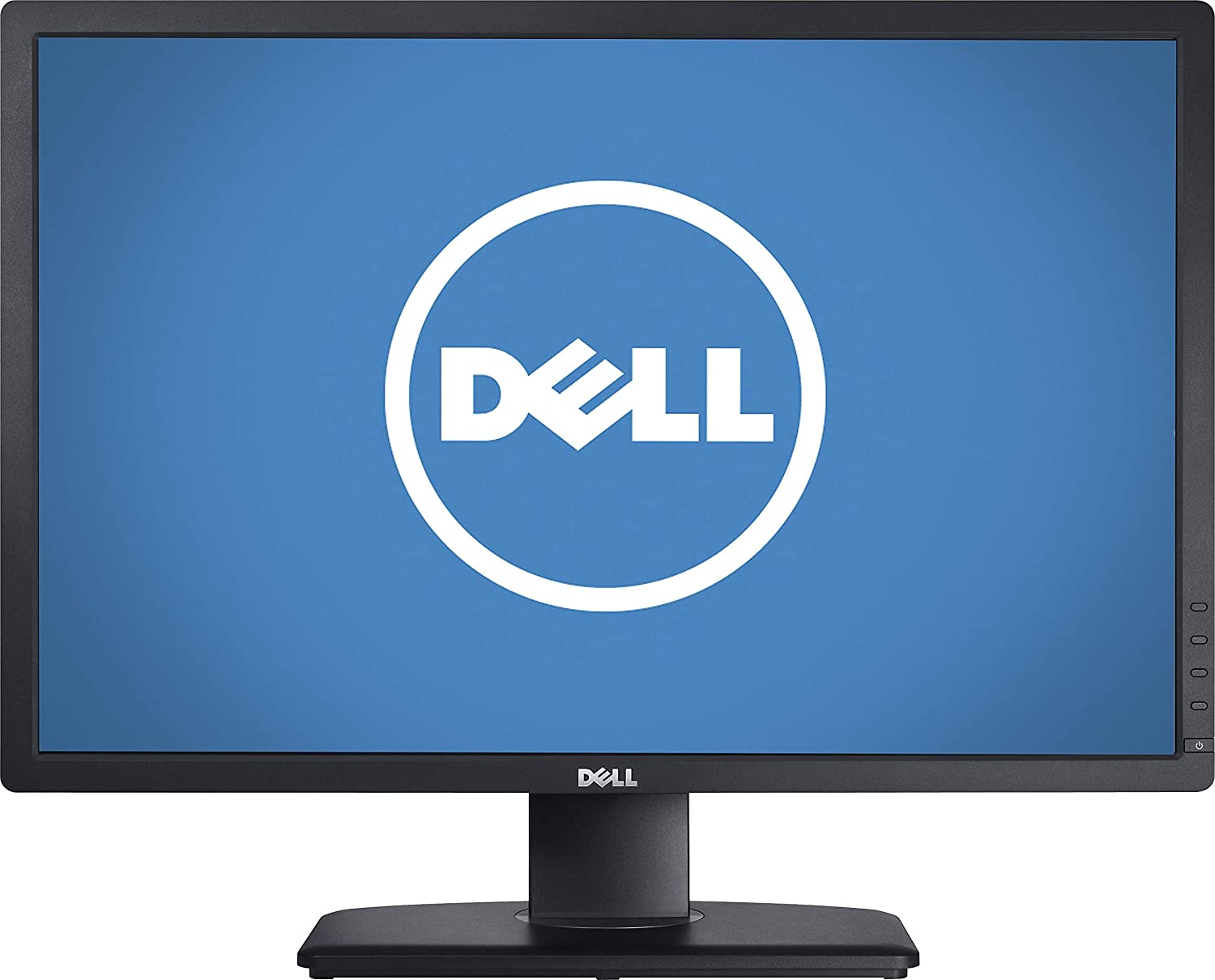 "Dell UltraSharp U2412M Monitor, Black IPS Panel, 24"" 8ms Pivot, Swivel & Height Adjustable LED Backlight Widescreen LCD, DisplayPort, VGA, DVI-D, 4 USB 2.0, 1920 x 1200 @ 60 Hz resolution"