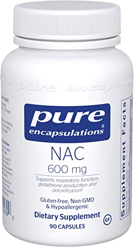Pure Encapsulations – NAC 600 mg – Amino Acids to Support Respiratory Function, Glutathione Production, and Detoxification* – 90 Capsules