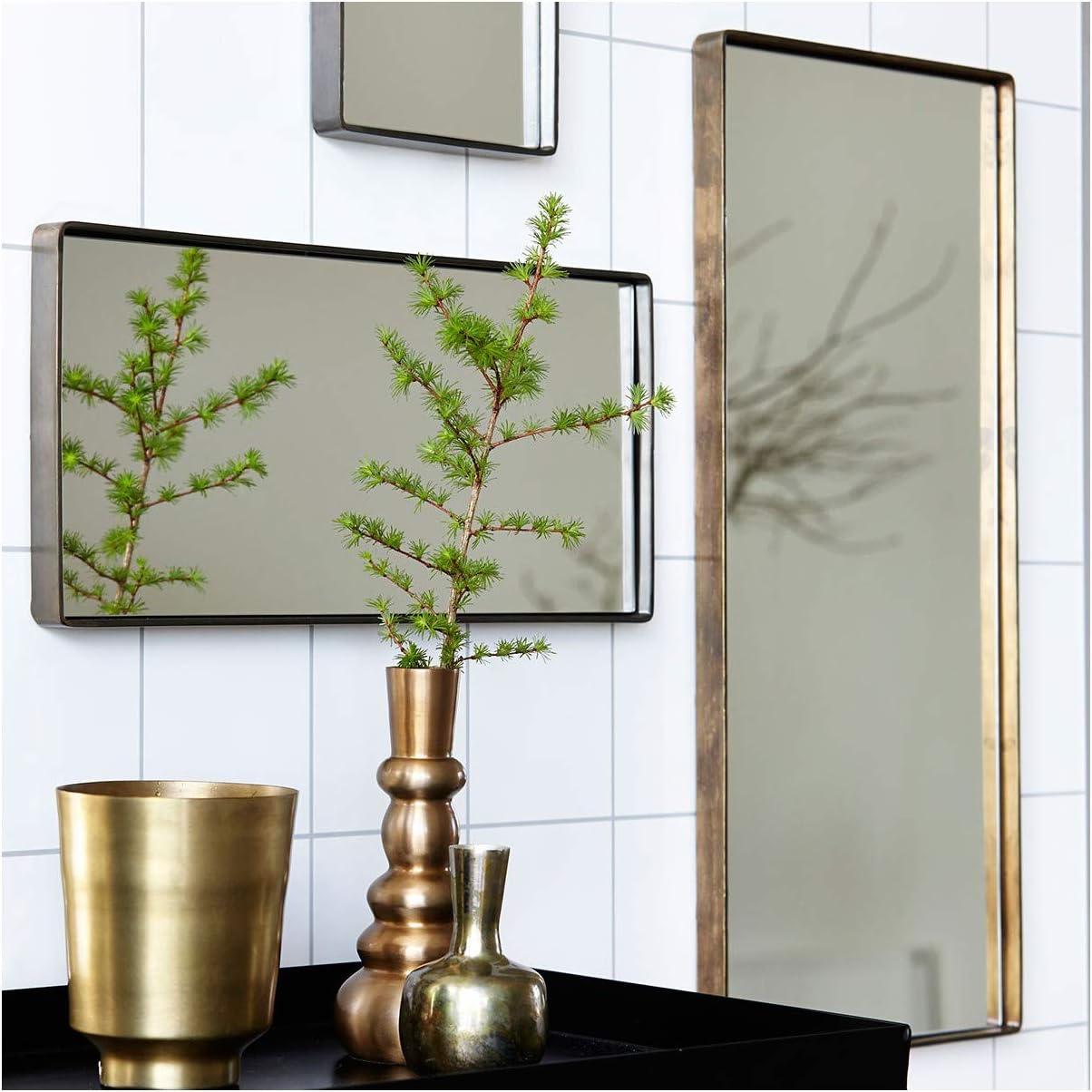 House Doctor colore: Nero opaco Specchio in metallo 30 x 20 x 4 cm