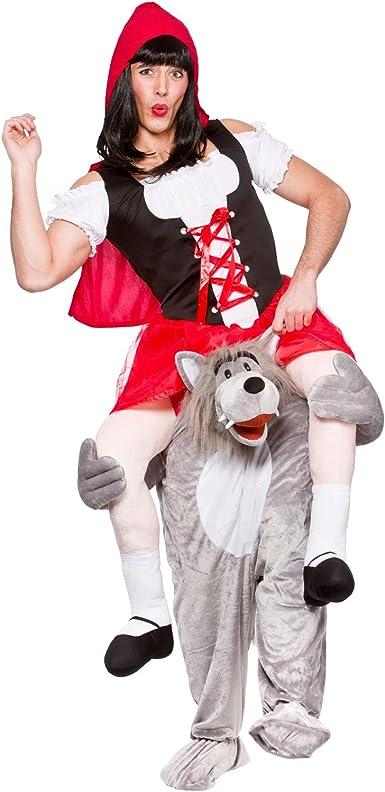 Wicked - Disfraz de lobo y Caperucita Roja para adulto (talla ...