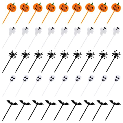 Kesote 100 Pezzi di Halloween Topper di Torta Topper di Plastica a Forma di  Zucca d38812baa6bf