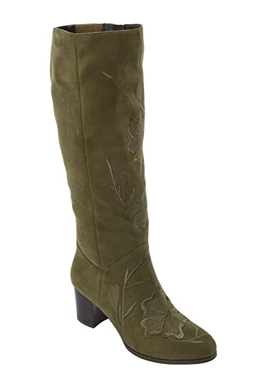 b2648e356a1 Comfortview Women's Plus Size The Ayana Wide Calf Boot