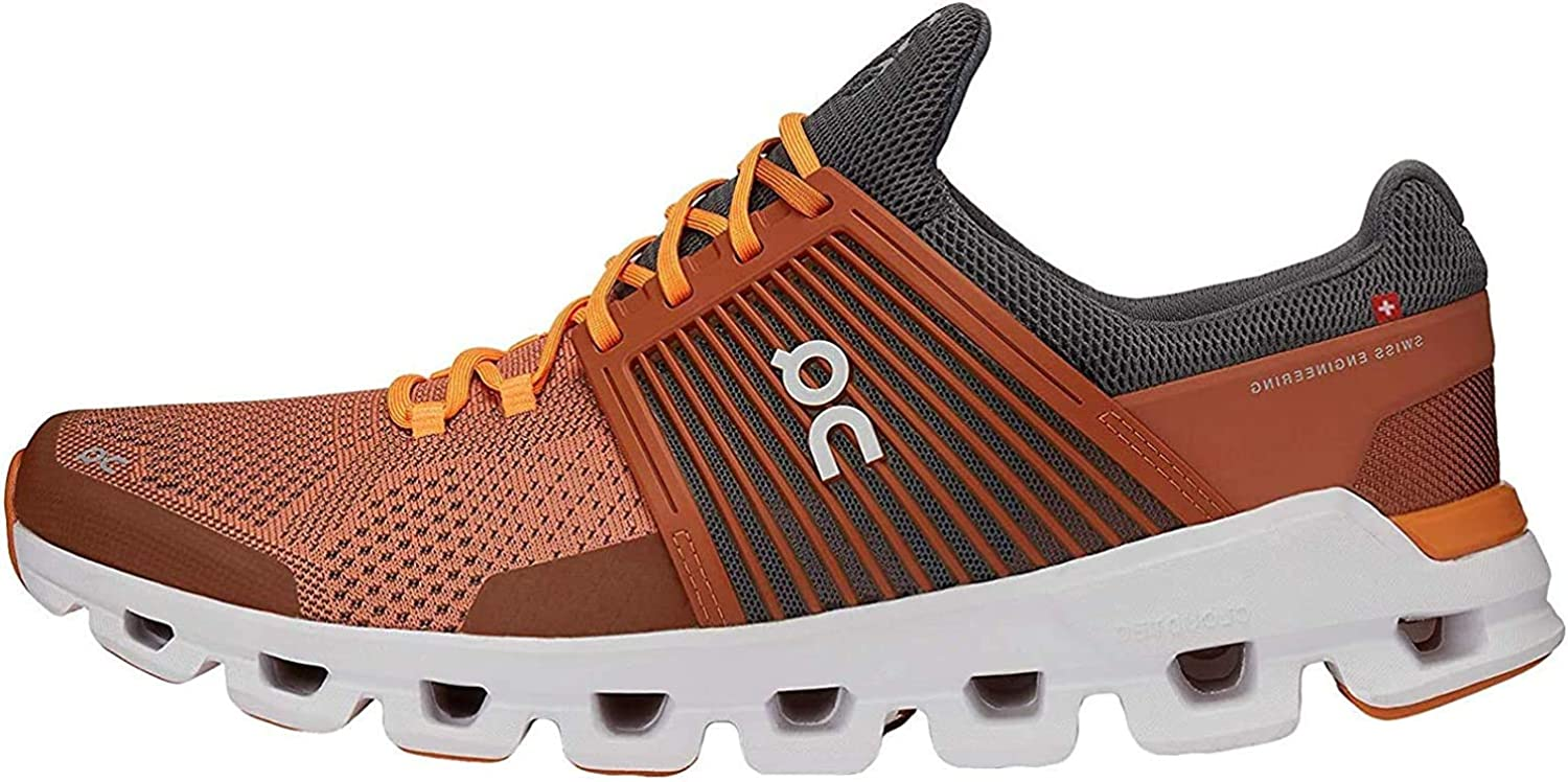 On Running Mens Cloudswift Mesh Rust Rock Trainers 10 US