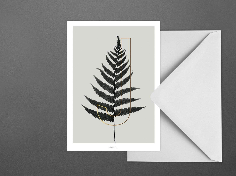 Postkarte//ABC Plants J