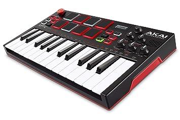 AKAI Professional MPK Mini Play - Mini teclado completamente independiente y controlador MIDI USB con altavoz