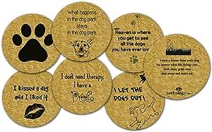 Corkology Dogs Coaster Set, Cork