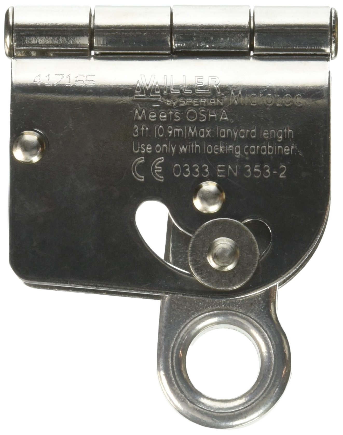 Miller by Honeywell 8173/U MicroLoc Trailing Wire Rope Grabs for 5/8-Inch Wire Rope, Universal by Honeywell (Image #2)