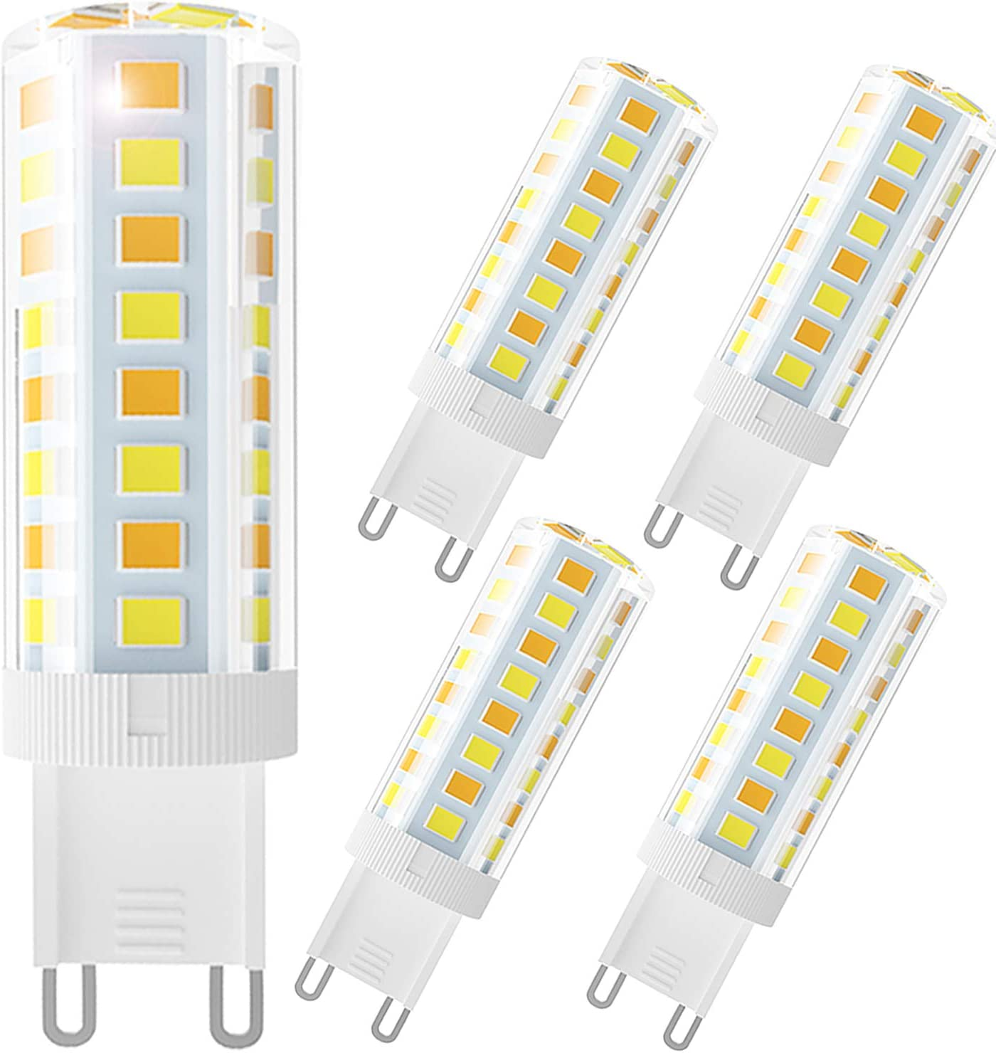 6000K 4000K 3000K Pendant Light 120V 5-Pack Wavypo G9 LED Bulb with 3-Color-Temperature 4W Equivalent 40W Halogen Lamp G9 Base for Chandelier Change Daylight// Neutral Light// Warm Light
