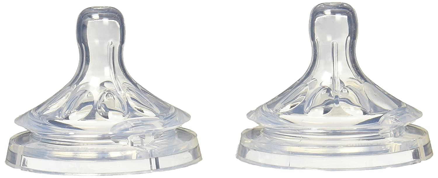 Philips Avent Natural Medium Flow Nipple 3Month+ (2 Pack), SCF653/27