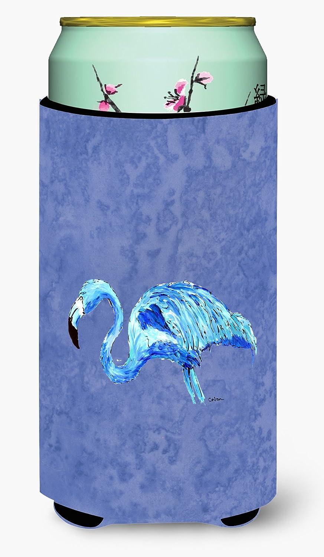 Caroline's Treasures 8873TBC Flamingo On Slate Blue Tall Boy Beverage Insulator Beverage Insulator Hugger, Tall Boy, multicolor