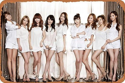 "GFFYYU SNSD Girls Generation Music Poster 8"" x 12"" Retro Metal Tin Sign"