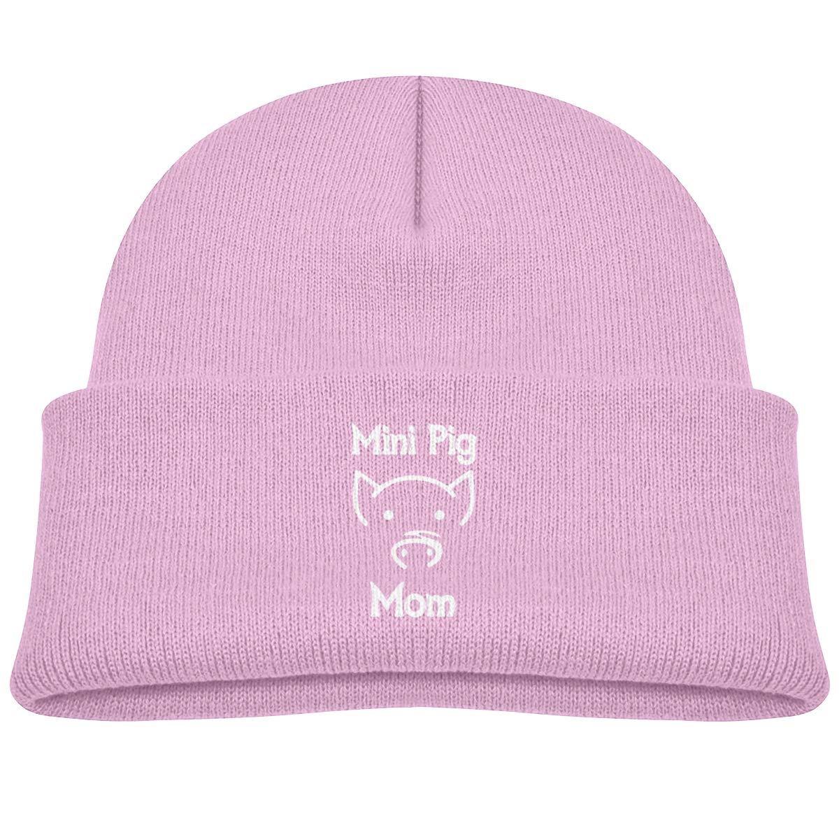 Mini Pig Mom Infant Skull Hats Kids Beanies Caps
