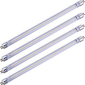 "LEGELITE Led Tube Light T5 12"" 5W 12V DC 500LM 3000K, Perfect F8T5 Florescent Tube Replacement for RV, Motorhomes, Trailers,Marine, Boat (T5 Cool White, 4 Pack)"